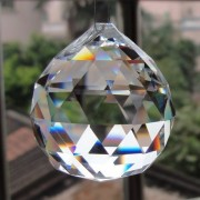 Divya Shakti Clear Crystal Hanging Ball for Good luck & Prosperity