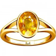 Divya Shakti 7.25 - 7.50 Ratti Yellow Sapphire Gold Ring ( Pukhraj Stone 22K Gold Ring ) 100% Original AAA Quality Gemstone