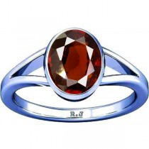 Divya Shakti Hessonite Silver Ring ( Gomed Stone Ring ) 100% Original AAA Quality Gemstone Ring